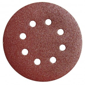Replacement Velcro Sandpaper LRO450 Ø 125 mm. With Holes 40 Grit (10 Pieces)