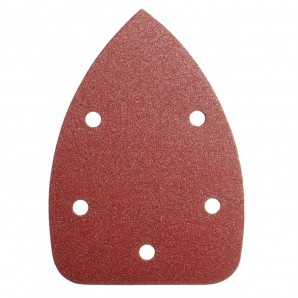 Delta Replacement Sandpaper LO105 140x100 mm. With Holes 80 Grit (10 Pieces)
