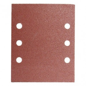 Replacement Sandpaper LO210 114x140 mm. With Holes 120 Grit (10 Pieces)