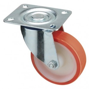 Industrial Polyurethane Wheel with Plate 100 mm.