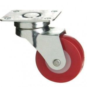 Polyurethane Wheel with Plate 60 mm.