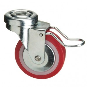 Polyurethane Wheel with brake 60 mm.