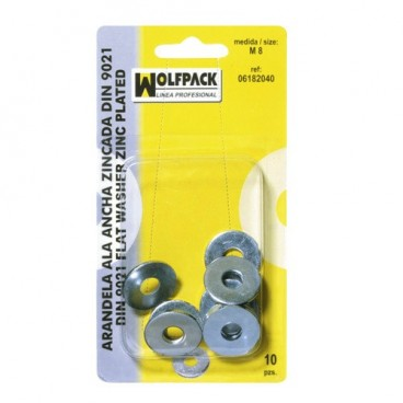 Blister Pack Fender Washers Din9021 M10 (8 Pieces)