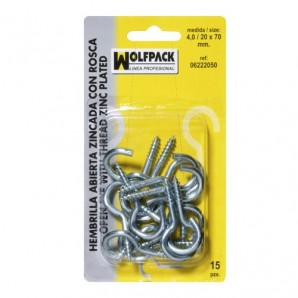 Blister Pack of Open Rings 3.0 / 18 x 50 mm. (30 pieces)