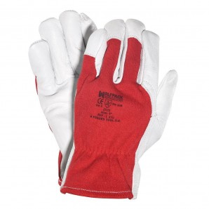 Wolfpack Leather/Canvas Gloves 8""