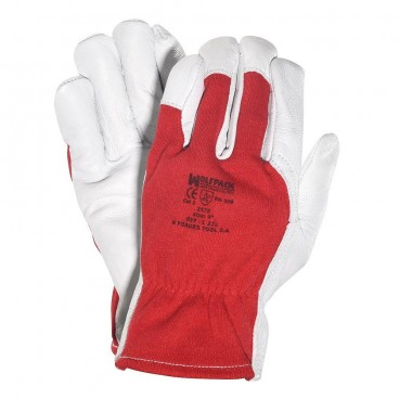 Wolfpack Leather/Canvas Gloves 10""