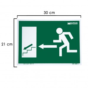 Stairway Exit Downward to the Left Sign 21x30 cm.