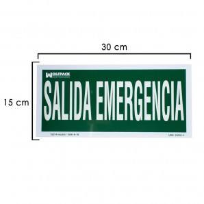 Emergency Exit Sign 15x30 cm.