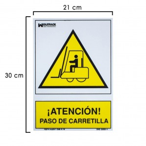 Forklift Truck Movement Warning Sign 30x21 cm.