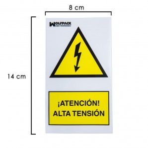 High Voltage Adhesive Sign 140x80 cm.