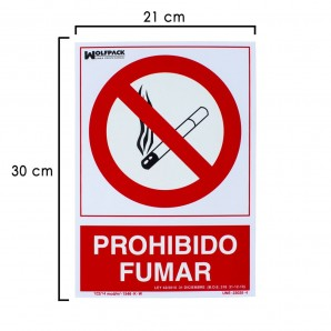 No Smoking Sign 30x21 cm.