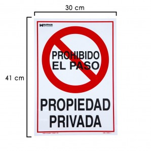 Private Property Sign 41x30 cm.