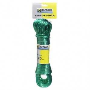 Steel Cable Plastic Coated Cord Ø 3.0 mm. (Skein 10 m.)
