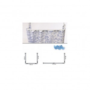 Universal Aluminium White Extendable Rail for Shower Curtain 80 to 170 cm.