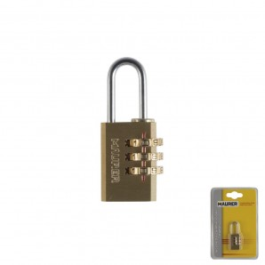 Wolfpack Brass Padlock Combination 22 mm.