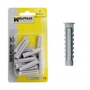 Nylon Wall Plug Blister Pack 8 mm. (15 pieces)