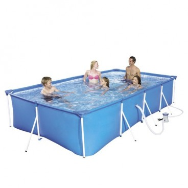 Rectangular pool with water treatment plant 400x211x81cm.