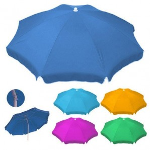 Poliestere Beach Parasole 180 cm. Colori assortiti