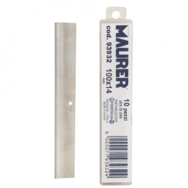 Scraper Replacement Blade Metallic Handle Maurer 10cm (10 pieces)