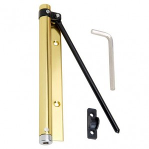 Springed Door Rod Wolfpack Anodised Aluminium Gold (Blister 1 Piece)