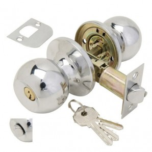 Knob Wolfpack With Key Chromed For Entry