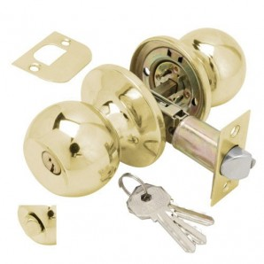 Knob Wolfpack Brass Plated Entry Key