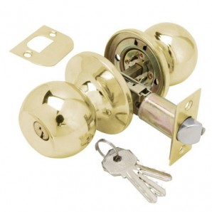 Knob Wolfpack Con Key Brass Plated