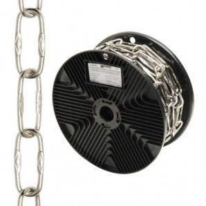 Silver Engraved Decorative chain 4,0x46 mm. Roll 20 metres