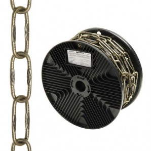 Engraved Decorative Leather Chain 4.0x46 mm. Roll 20 metres