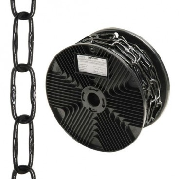 Black Engraved Decorative Chain 4.0x46 mm. Roll 20 metres
