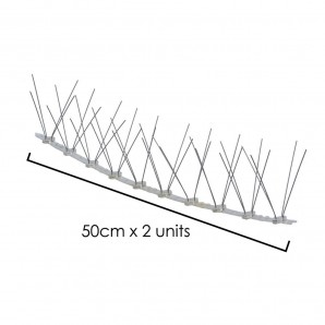 1 Meter (0.5+0.5) Anti pigeon Double Polythene Spike