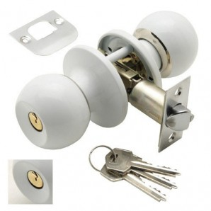 Knob Wolfpack Con Key Both Sides White