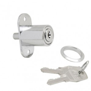 Sliding Door Lock With Push Button 347/27 mm. Chromed