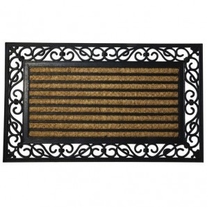Doormat Oryx Fibre Coconut and Rubber Stripes 45x75 cm.