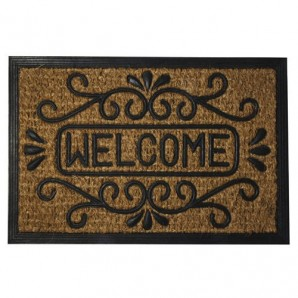 Doormat Oryx Fibre Coconut and Rubber Welcome 40x60 cm.