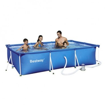 Rectangular pool with water treatment plant 300x200x66 cm.