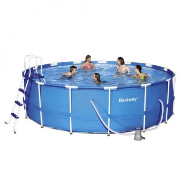 Round Swimming Pool With Water Pump, Metal Structure ø457x122 cm.