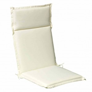 Cushion For Tall Armchair 119x52x5 cm. Beige Removable cover