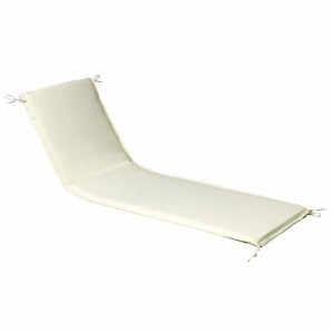 Cushion For Sunlounger 200x65x5 cm. Beige Removable cover