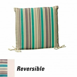 Cushion For Seat 43x43x5 cm. Stripes with removable cover