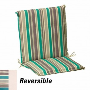 Cushion For Low Armchair 95x52x5 cm. Stripes with removable cover