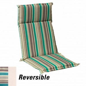 Cushion For Armchair 119x52x5 cm. Stripes with removable cover