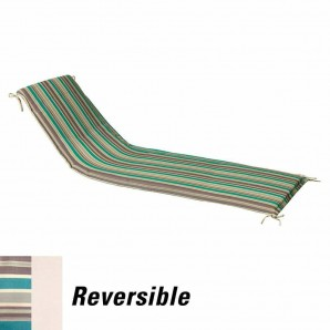 Cushion For Sunlounger 200x65x5 cm. Stripes with removable cover