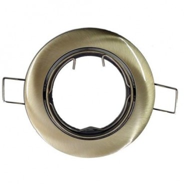 Round gold adjustable recessed ring GU10 GSC 0700661