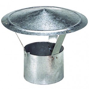 Heating - Hat Galvanized Stove of 100 mm.