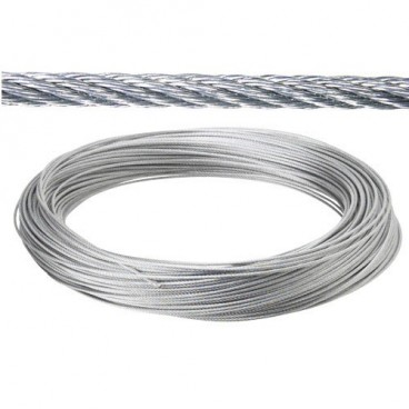Galvanized cable 4 mm. (Roll 25 Meters) not for elevation