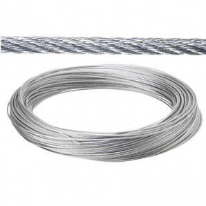 Galvanized cable 6 mm. (Roll 25 Meters) not for elevation
