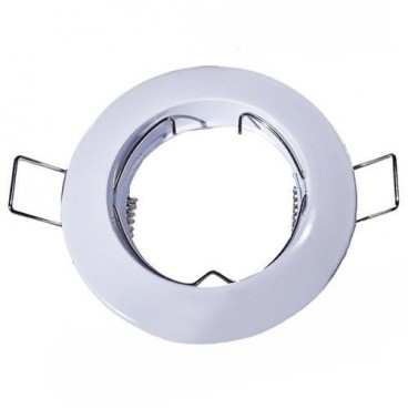 White fixed round recessed ring for LED bulb GSC 0700654