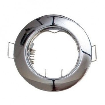 Fixed round recessed nickel satin ring for LED bulb GSC 0700655