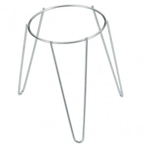 Galvanised Plant Pot Foot Stand 16 cm